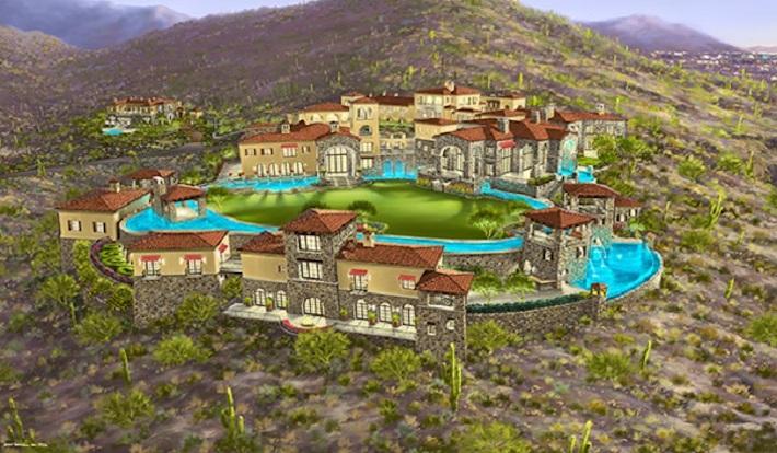 """Esta enorme mega mansión """"Sin Terminar"""" de 100.000 pies cuadrados en Scottsdale se vendió por $5 millones"""