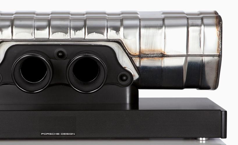 Porsche Design convierte el sistema de escape de un 911 GT3 en un increíble altavoz