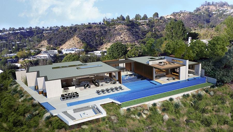 """La espectacular mansión """"Billionaire's Row"""" rodeada de agua en Beverly Hills puede ser tuya por $100 millones"""