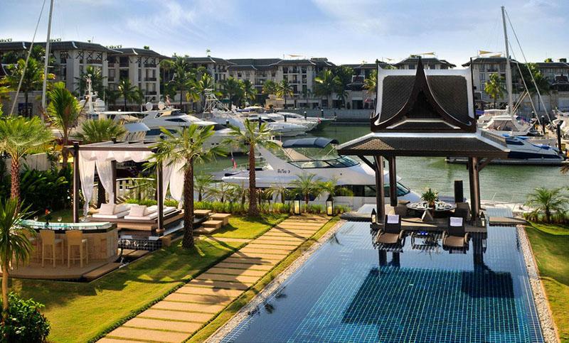 Marina en Phuket, Tailandia