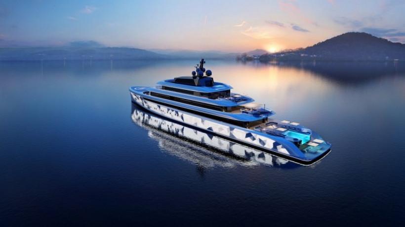 El mega yate concepto: Moonstone ostenta una iluminación jamás vista en un barco de lujo