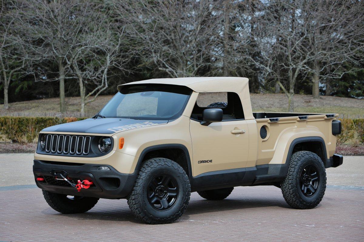 El Comanche se basa en el Jeep Renegade