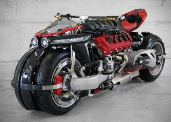 Lazareth LM 847: Mega Potente Motocicleta De 4-Ruedas Y !470HP¡ Alimentada Por Un Motor Maserati V8