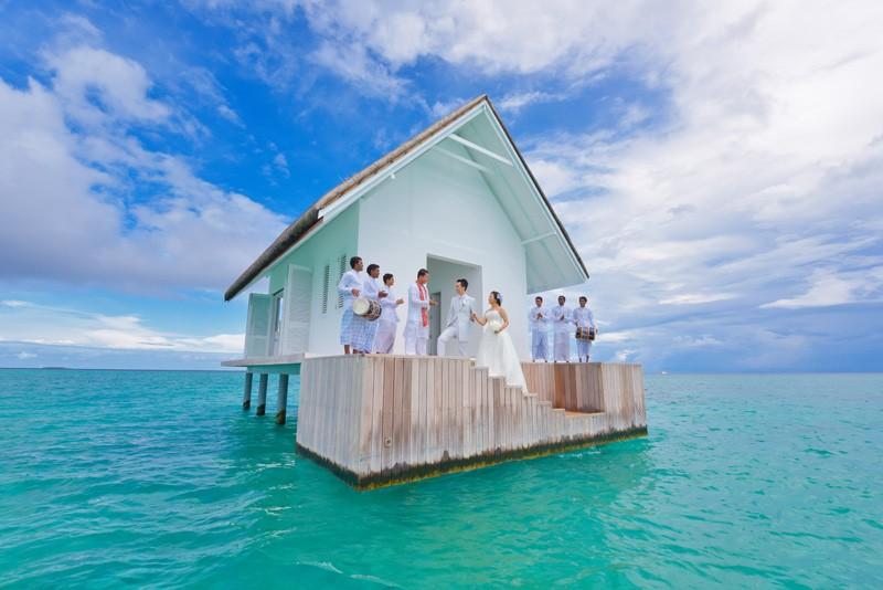 Esta increíble capilla sobre el mar en las Maldivas ha sido nombrada el destino más romántico para bodas en el planeta