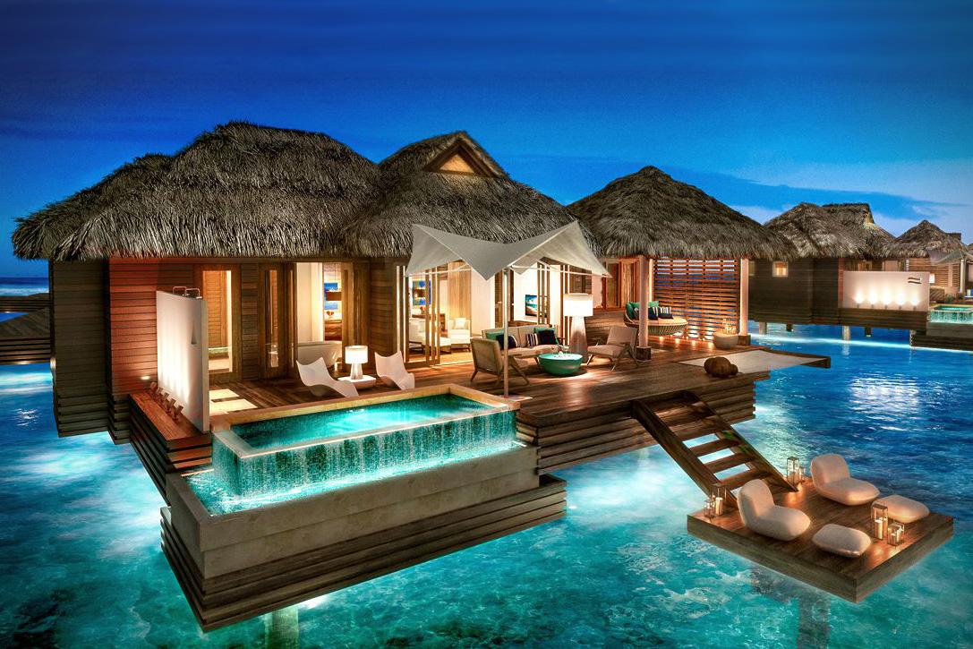Las primeras suites de lujo sobre el agua en el caribe son simplemente hermosas
