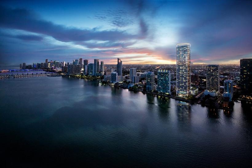 La impresionante torre residencial Missoni Baia brillará con todo su esplendor en la ciudad de Miami