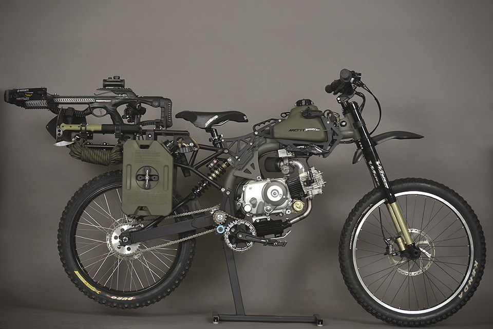Motocicleta de Supervivencia Black Ops Edition Por Motoped