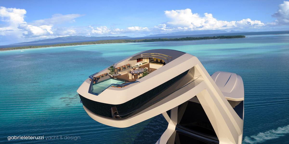 SHADDAI: Este Futurista Concepto De Mega Yate Por Gabriele Teruzzi