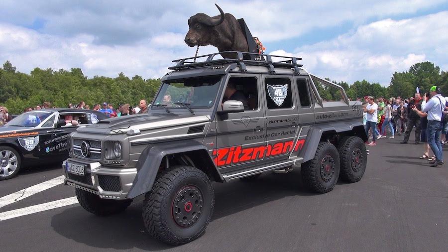 VEA Este Bestial Brabus 700 G63 AMG 6x6 De $780.000 En Una Carrera DRAG