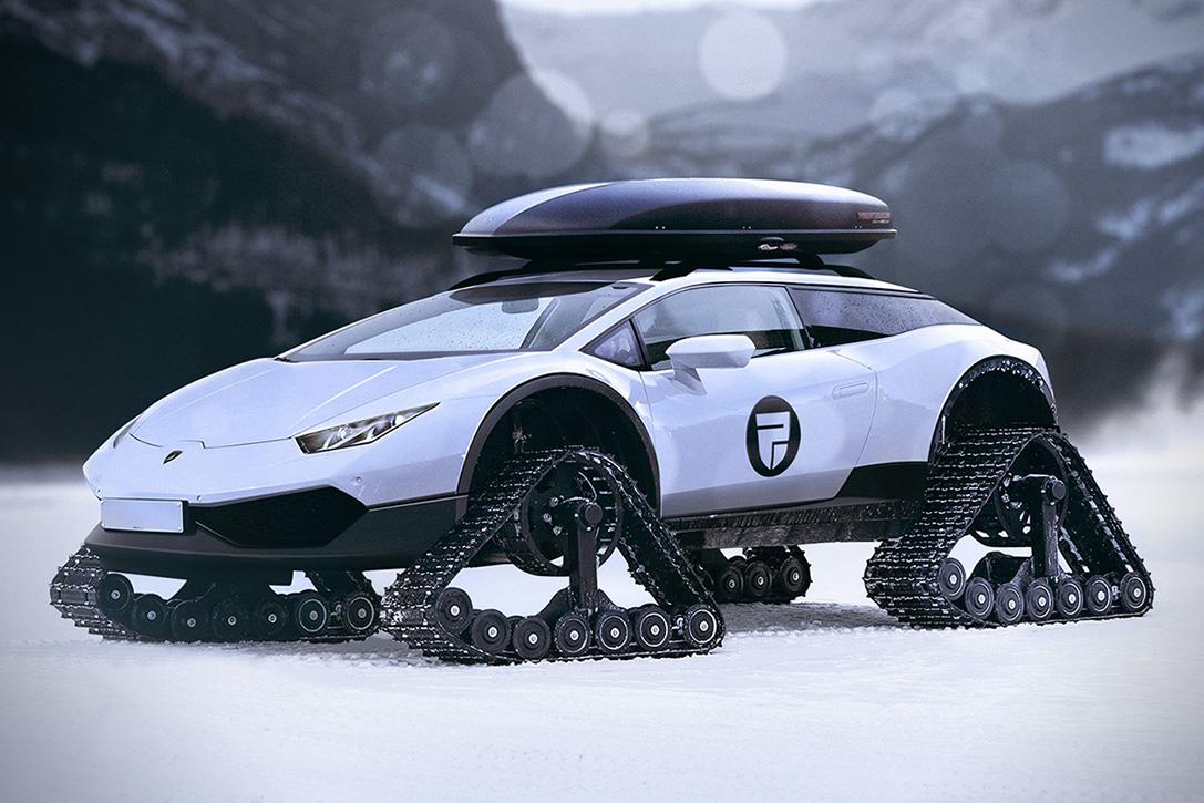 Lamborghini Huracán Snowmobile, el pináculo de juguete de lujo para el invierno