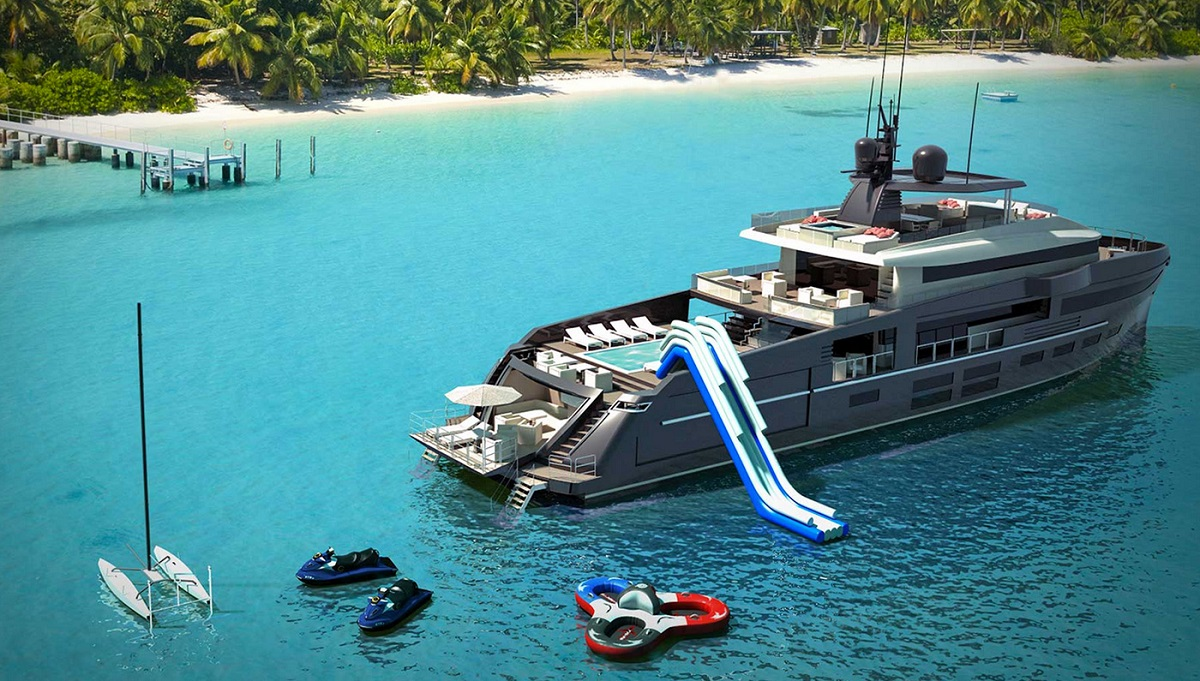OceaNemo:  Este yate concepto de 44M es realmente un parque de diversiones sobre el mar