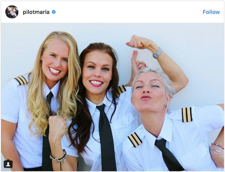 Ella es la piloto de avión más hermosa y sexy del mundo que se ha convertido en una celebridad en Instagram