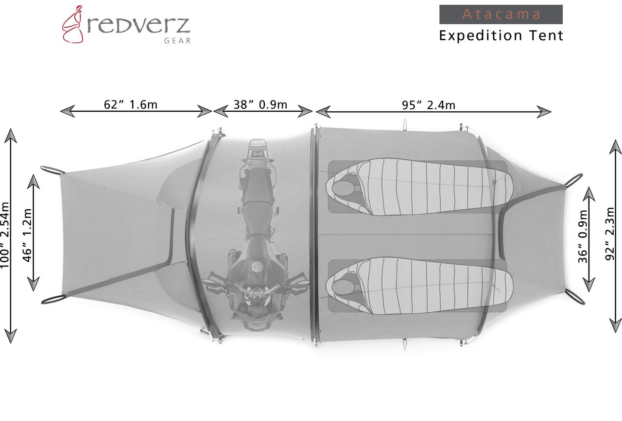 Redverz Solo Expedition: Esta innovadora tienda de campaña te permite dormir al lado de tu motocicleta