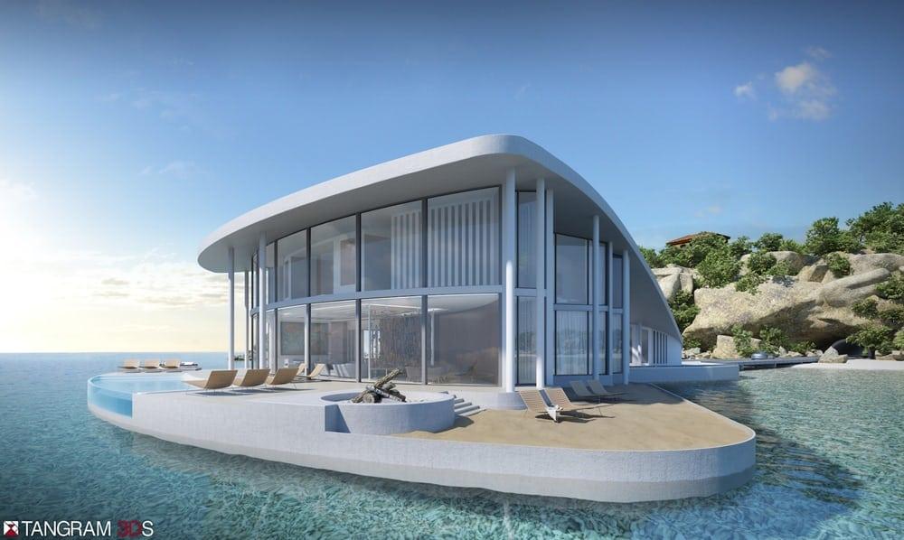 Sting Ray es una deslumbrante casa flotante en forma de raya disponibles para la venta