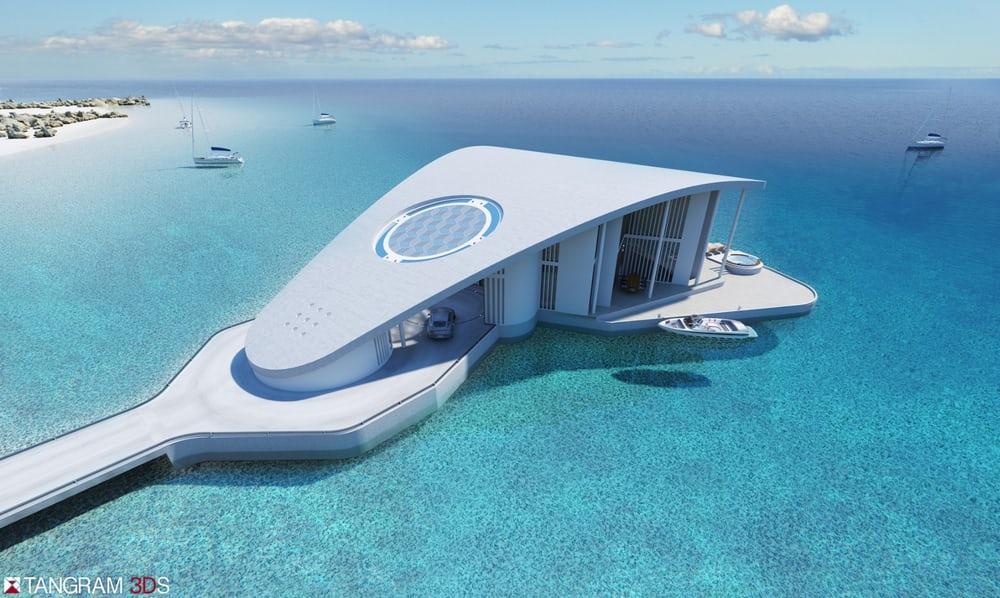 Sting Ray es una deslumbrante residencia flotante en forma de raya que estará disponible en 2017