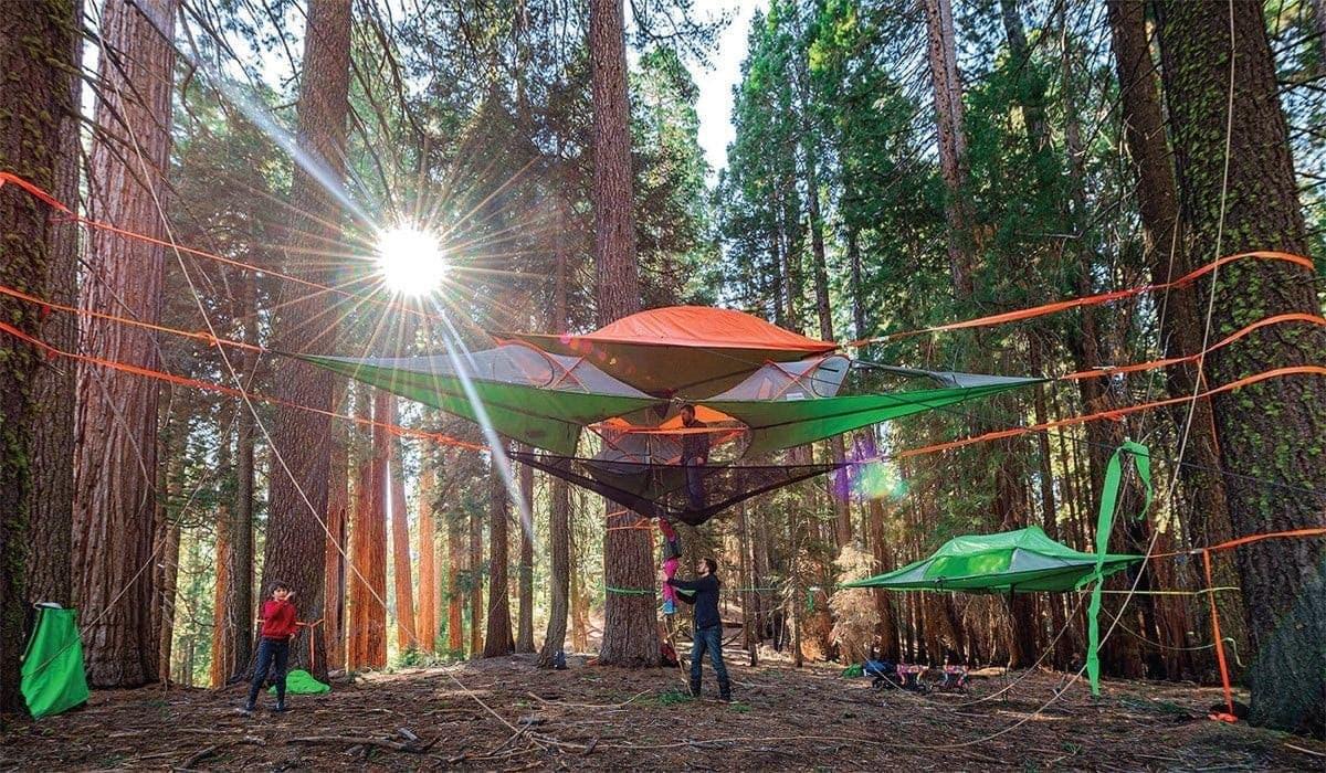 La ingeniosa hamaca que puedes instalar en los árboles.