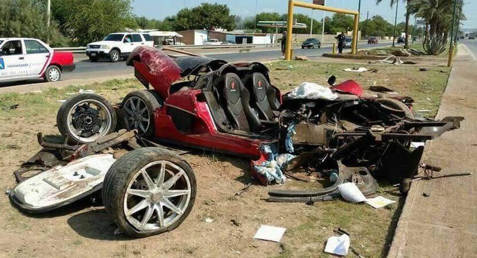 Echa un vistazo a este personalizado Koenigsegg CCX destruido en un accidente de alta velocidad en México