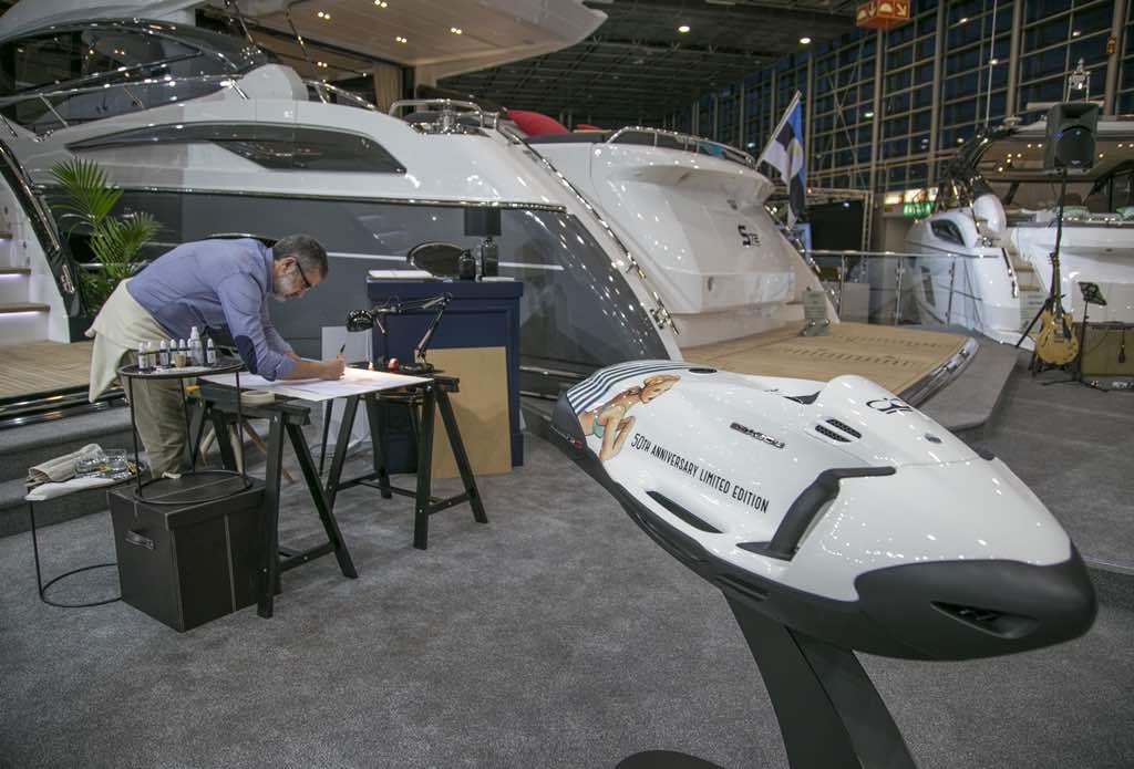 Princess Yachts conmemoró su aniversario 50 con una fantástica edición limitada de Seabob por Jaume Vilardell