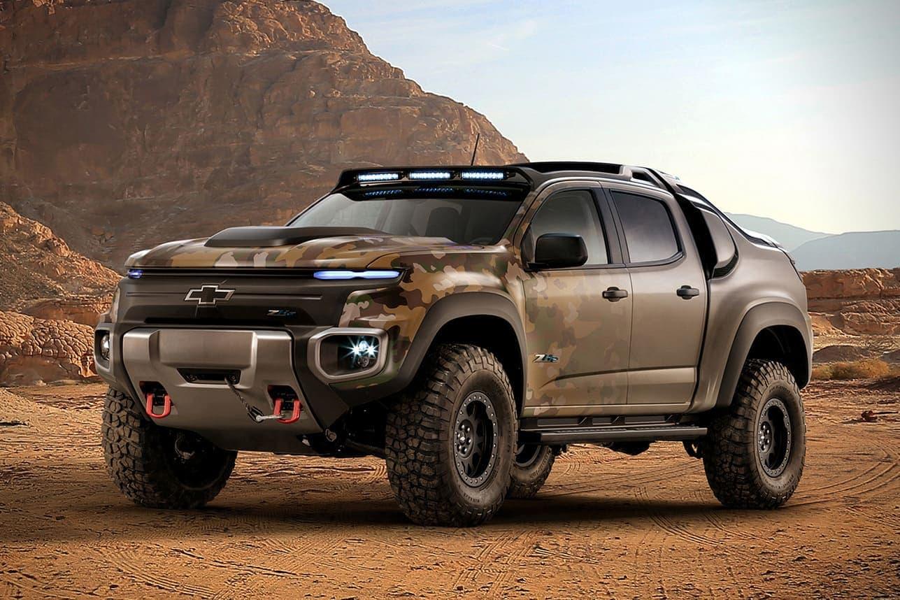 El monstruo Chevrolet Colorado ZH2 ha sido elaborado para el Ejército de Estados Unidos con una batería que no necesita carga