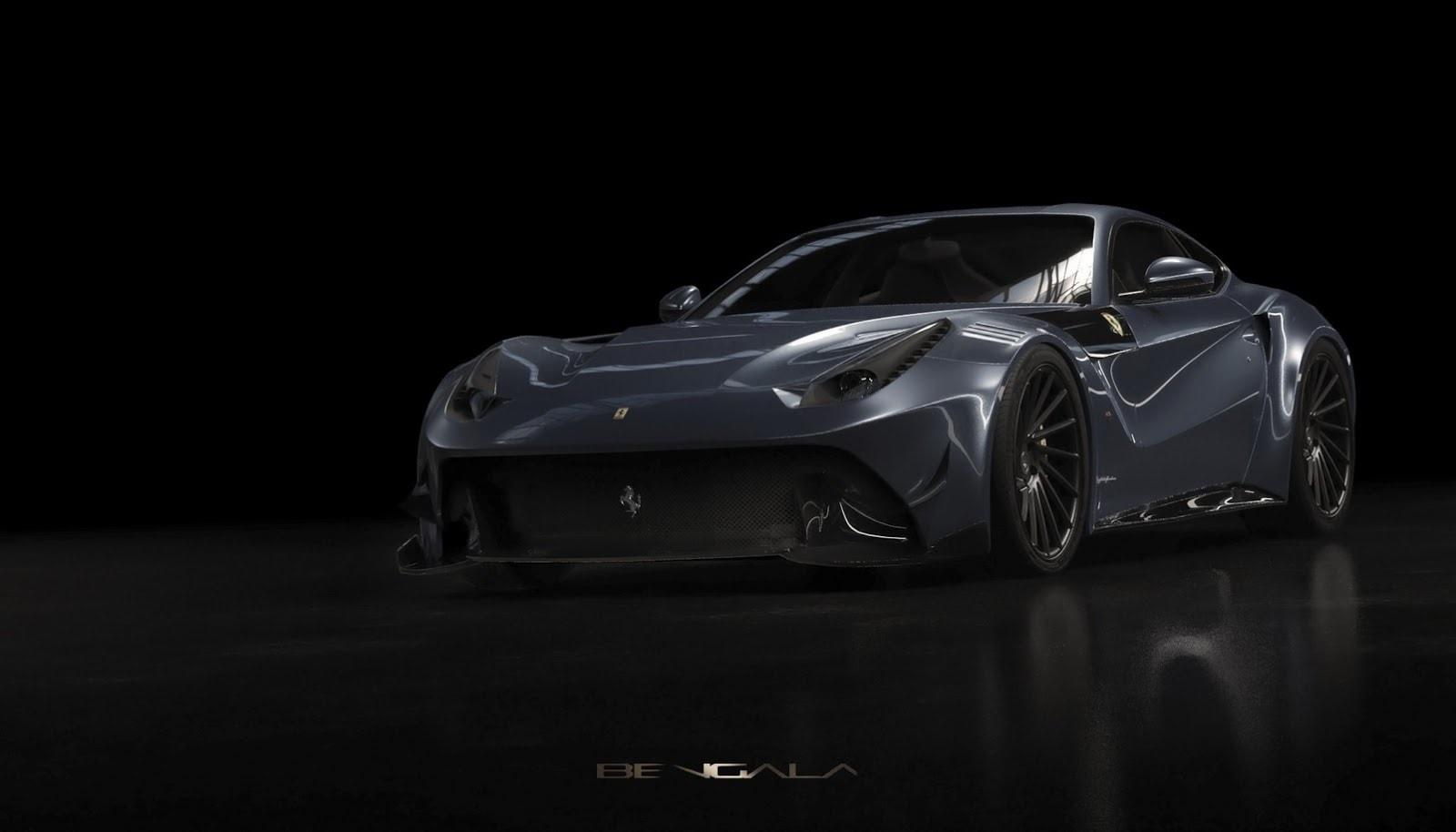 ¡Un Batimóvil Ferrari! La firma española Bengala ha lanzado su agresivo Ferrari F12 Caballería en fibra de carbono