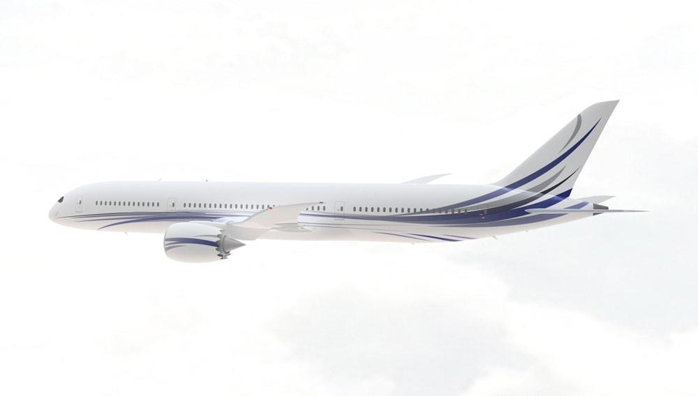 Greenpoint acondiciona el interior de este colosal avión hasta convertirlo en un palacio aéreo ultra lujoso