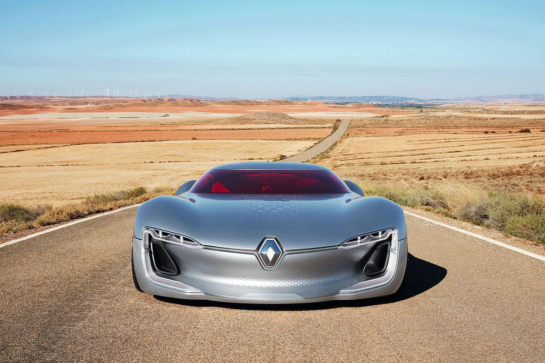 Renault presenta en el Salón del Automóvil de París el concepto Trezor, el coche deportivo eléctrico del futuro