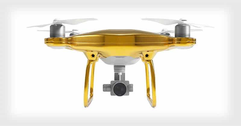 """Este lujoso drone """"DJI Phantom 4"""" chapado en ORO de 24 quilates cuesta $24.000"""