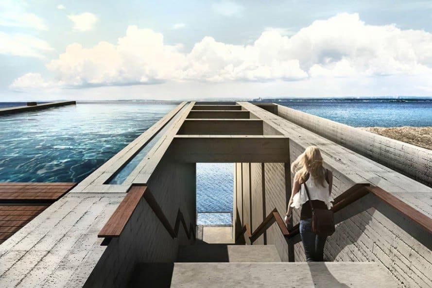 Casa Brutale: Esta mega espectacular casa conceptual en un acantilado sobre el mar Egeo se está convirtiendo en una realidad