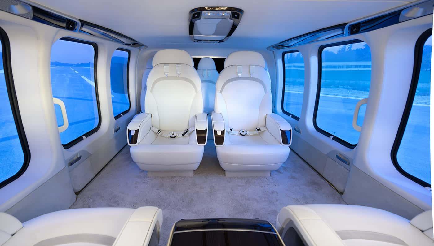 Ahora la cabina de tu helicóptero puede lucir tan LUJOSA como la de un avión privado