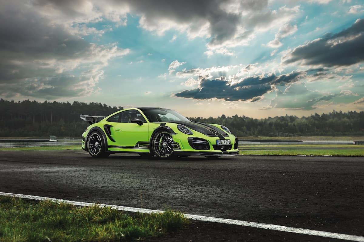 TechArt transforma este Porsche 911 Turbo S en un monstruoso GTstreet R color verde