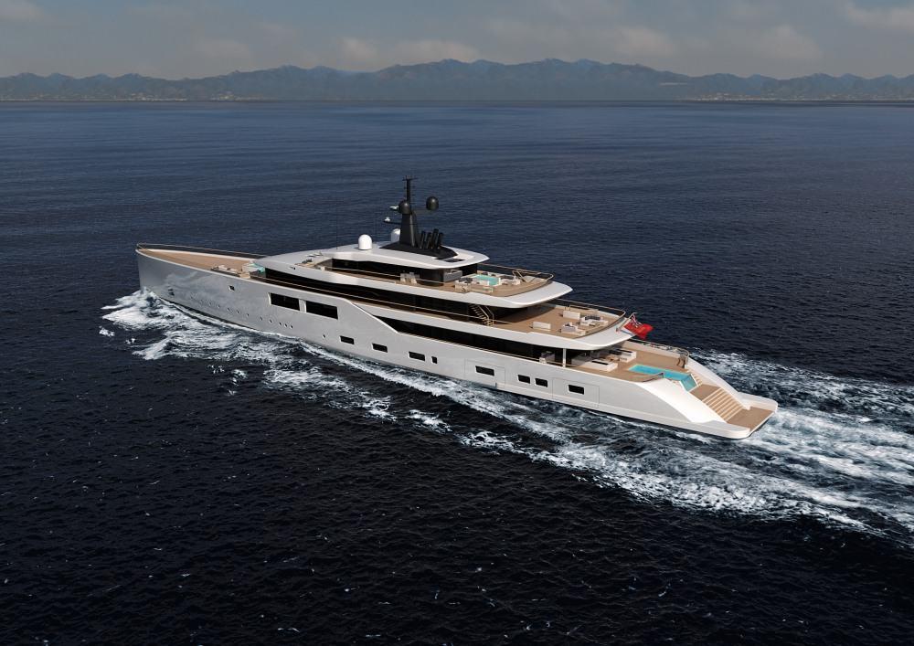 Oceanco y Nauta Design presentan el enorme mega yate Spectrum