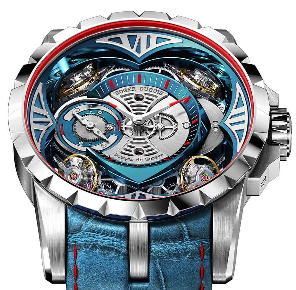 El Cautivante Reloj Roger Dubuis Excalibur Quatuor Cobalt MicroMelt