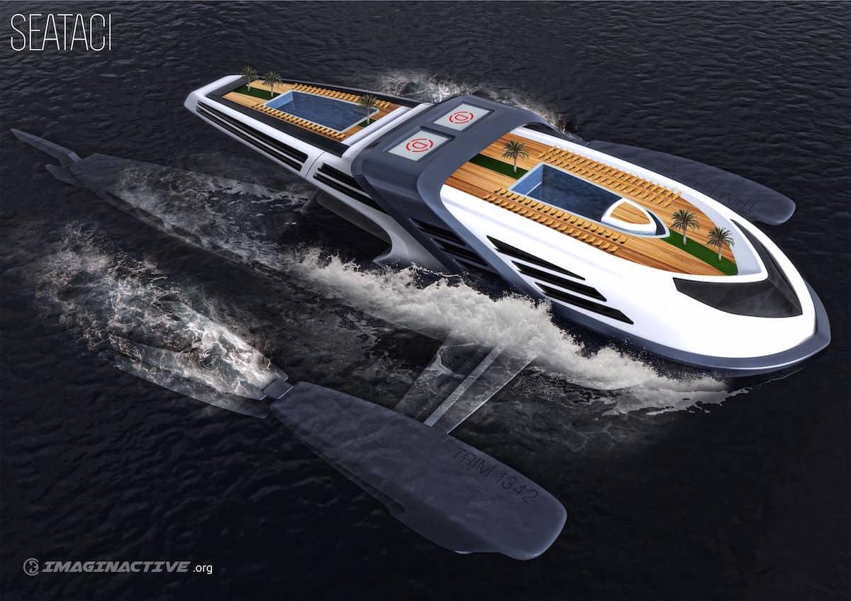 Seataci: Este super yate concepto imita los movimientos de una ballena