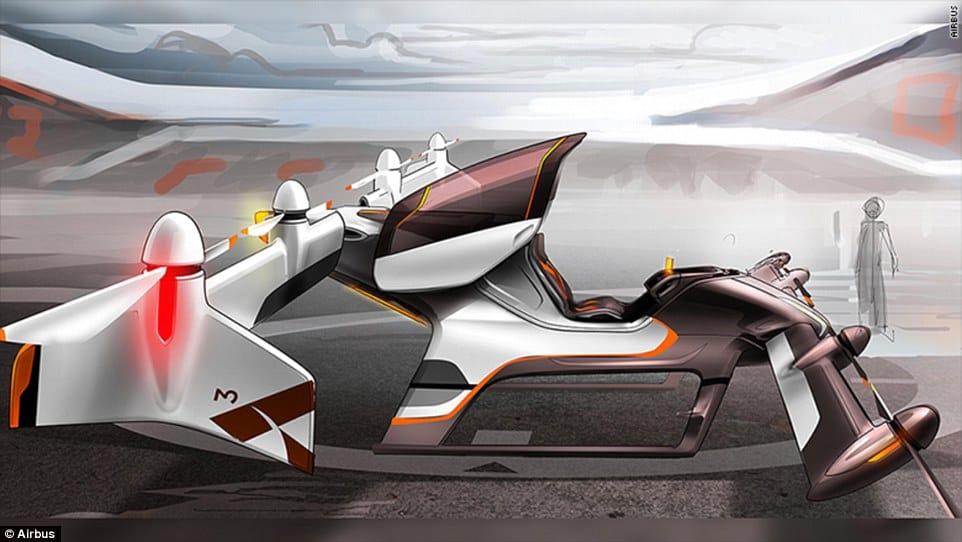 Proyecto Vahana: Airbus comenzará a probar su auto volador o 'Uber air' taxi en el 2017