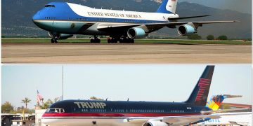 Avion privado de Trump y Air Force One