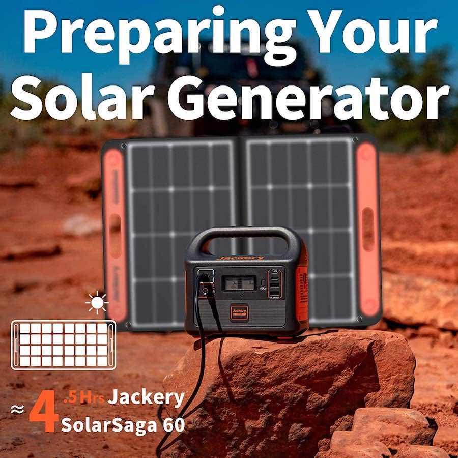Este Jackery Explorer 160 es un muy potente generador solar de batería portátil