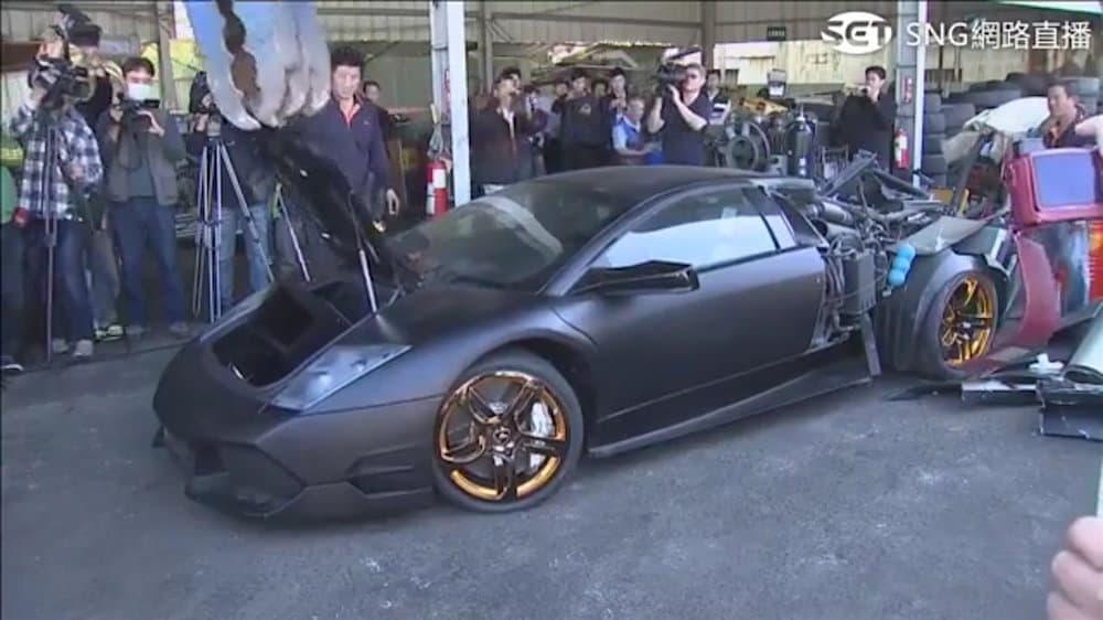 VEA este Lamborghini Murciélago de $340.000 ser destruido en Taiwan