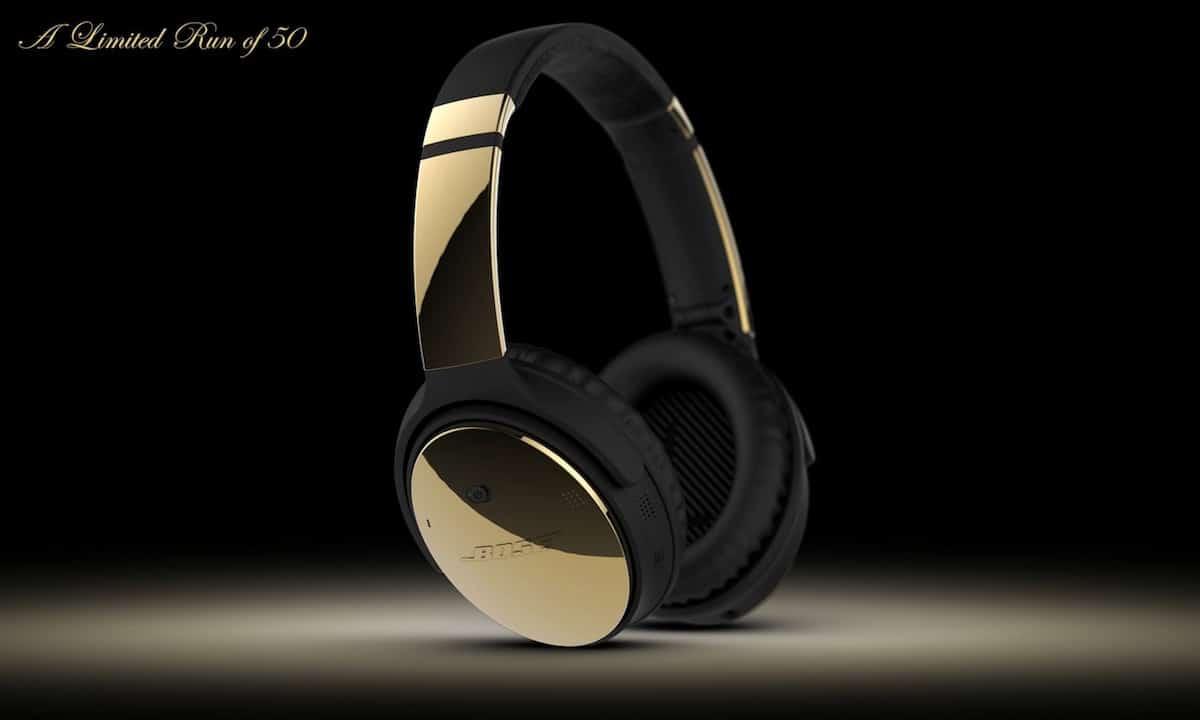 Auriculares Bose QuietComfort 35 en ORO de 24K por ColorWare