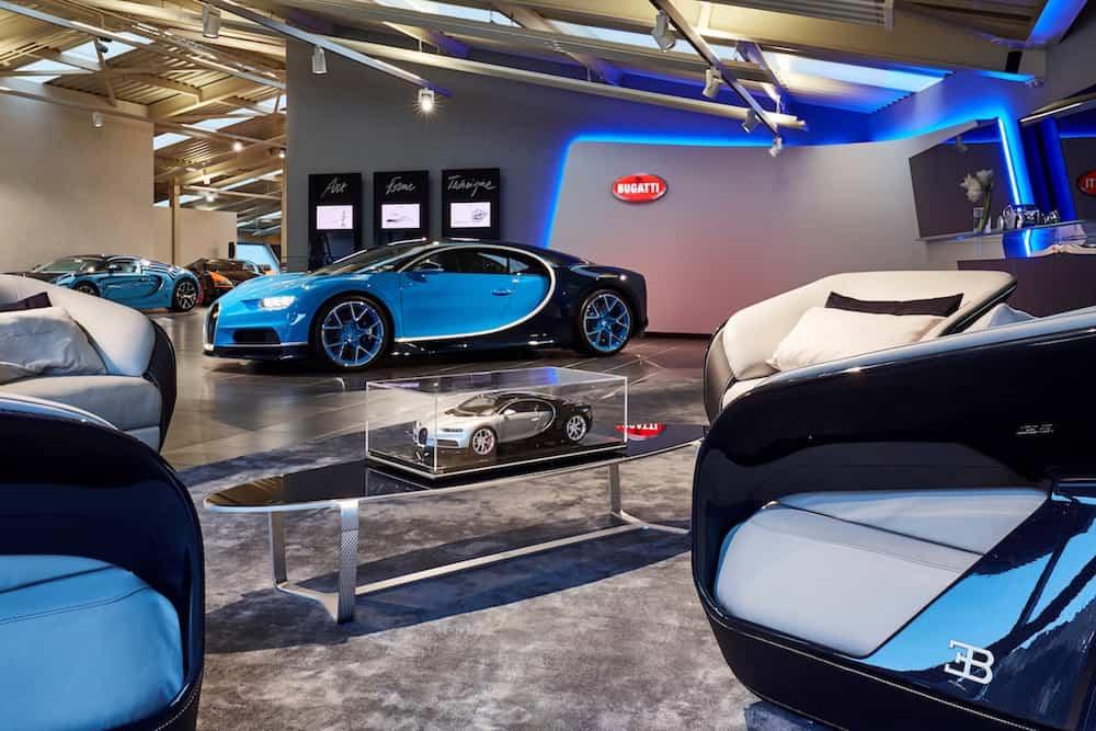 Bugatti abre un nuevo showroom en Gstaad, Suiza