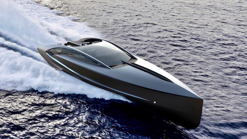 ¡Extremadamente potente y agresivo concepto! Lancha motora 'Sarco' por Timur Bozca