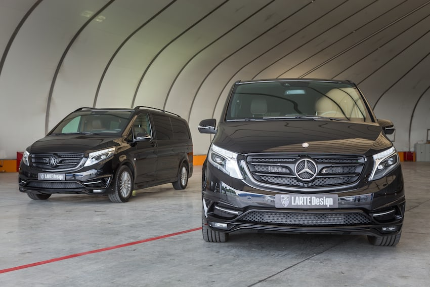 "LARTE Design & Luxury Technology Studio presentan su minivan Mercedes Benz V-class ""Black Crystal"""