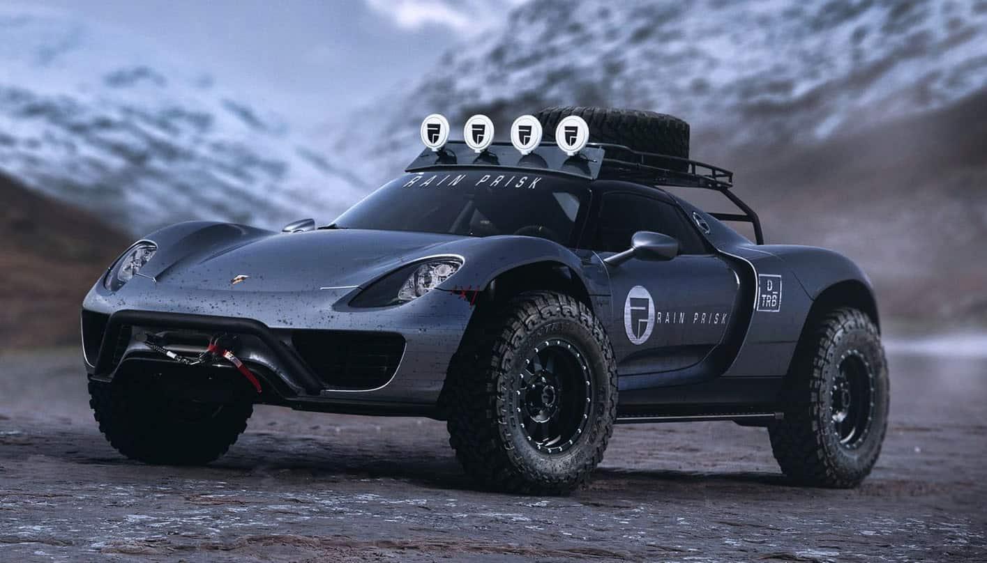 Este Porsche 918 Spyder todoterreno se ve súper mejor que el Cayenne