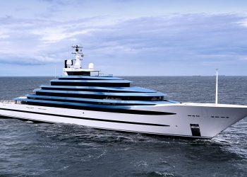 Jubilee, un espectacular superyate con piscina, acuario e incluso un club de playa a bordo