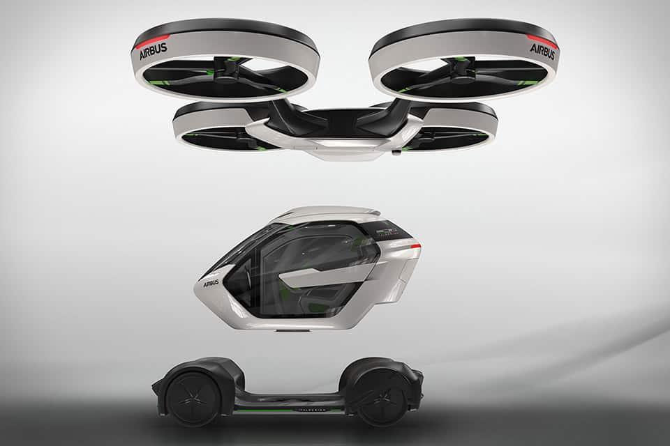 Airbus & Italdesign dan a conocer POP.UP, un concepto de coche volador modular autónomo para pasajeros