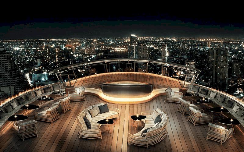 Alfresco 64: Inauguran en Bangkok el whisky bar al aire libre más alto del mundo