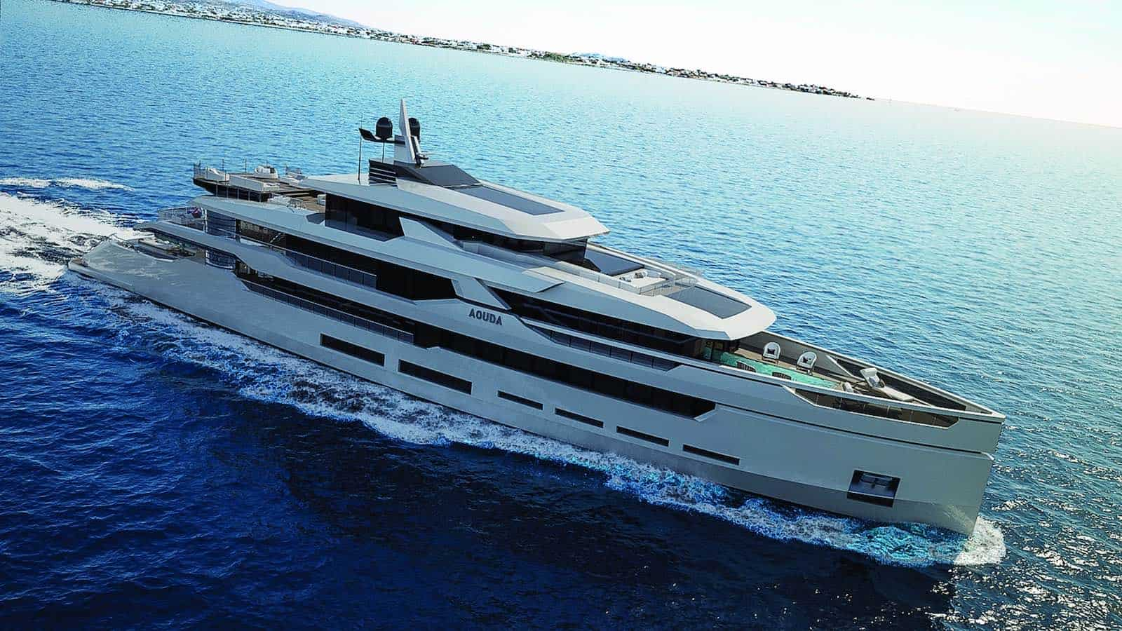 """Hot Lab presenta concepto """"Aouda"""" de 63 metros para el astillero turco Sarp Yachts"""
