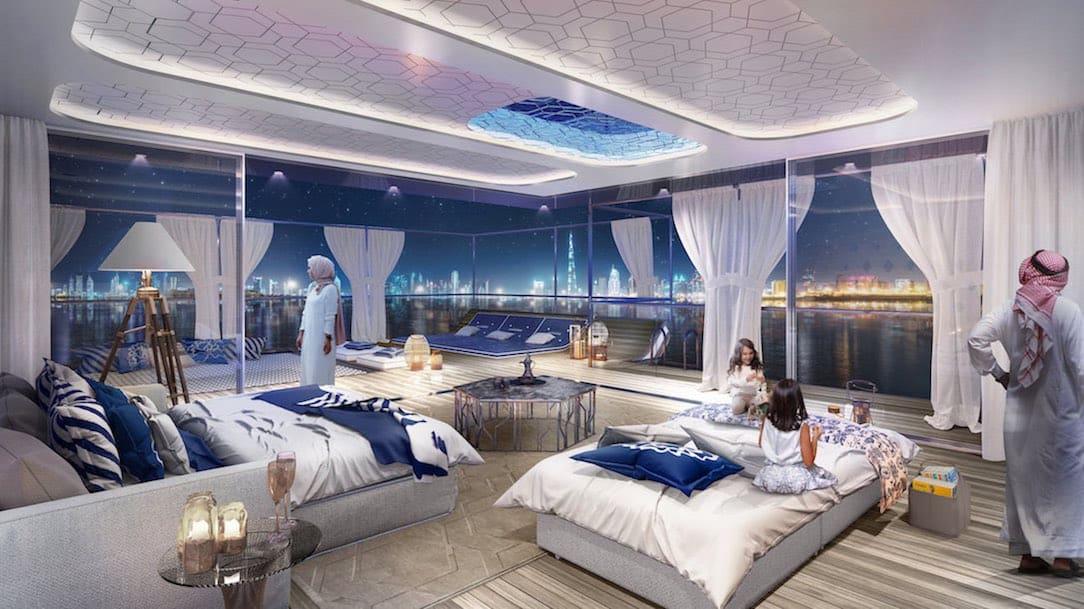 """En las cristalinas aguas azules de la costa de Dubái, se está construyendo una cadena de islas conocidas como """"The Heart of Europe (El Corazón de Europa)""""."""