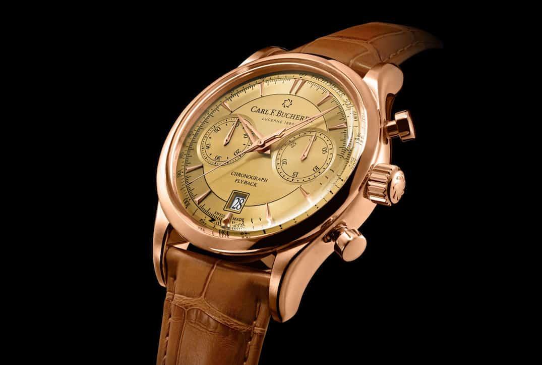 "Carl F. Bucherer Manero Flyback: Nuevo cronógrafo de oro del relojero suizo con ""Esfera champán"""