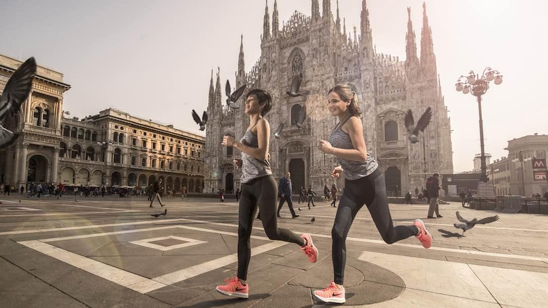 Alójese en el Four Seasons Hotel Milano y corre alrededor de la ciudad con tu propio entrenador de Nike