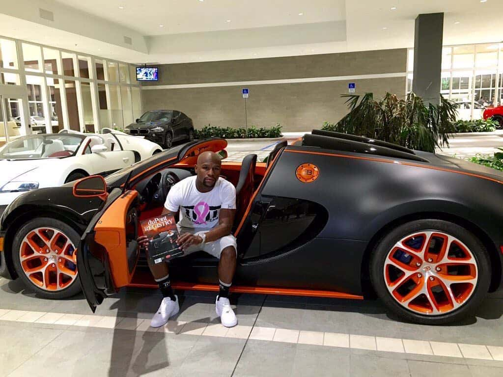 ex bugatti veyron grand sport de floyd mayweather ahora a la venta en ebay por 4 millones. Black Bedroom Furniture Sets. Home Design Ideas